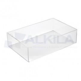 Cajon metacrilato para caja de 35 x 23 x 8 cm