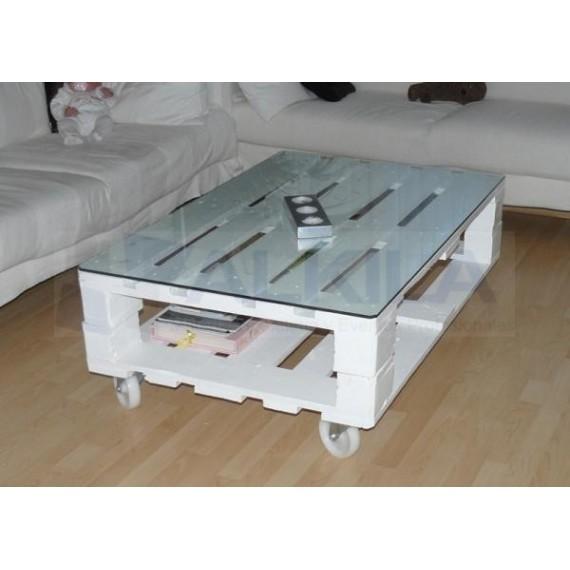 mesa de pallet tipo chillout - Mesas De Palet