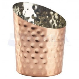 Stainless Cobre Hammered Angled Cone