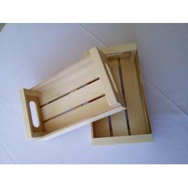 Cajas de frutas de madera de decoración
