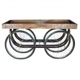 Carrito de madera 4 ruedas