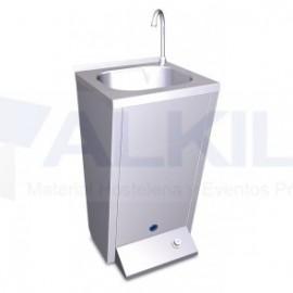 Lavamanos registrable con pedestal y pulsador