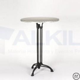 Mesa coctel alta modelo marbella hierro fundido altura 110 cm
