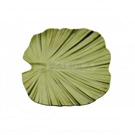 Fuente Hoja 35x34 cm Verde