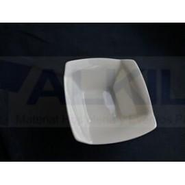 Bowl twir cuadrado blanco 10 cm