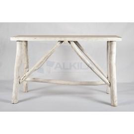 Banquetas madera blancas