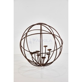 Candelabro esferico forja 8 velas