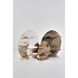 Expositor madera con baldas