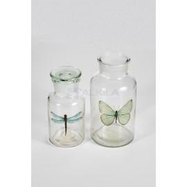 Frasquito cristal imagen libelula Portavelas