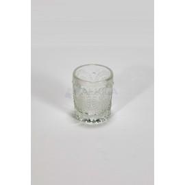 Vaso cristal portavelas tallado