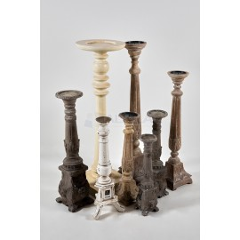 Columnas variadas portavelas