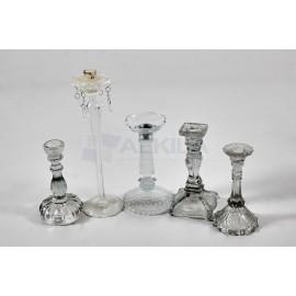 candelabros cristal 1 vela alta
