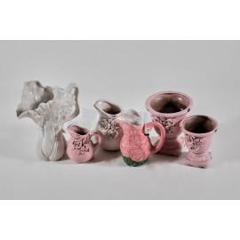Jarrón ceramico motivos florales