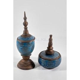 Tibor ceramico azul