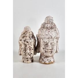 Cabeza piedra budista