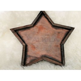 Bandeja madera forma estrella
